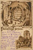 Ansichtskarte Heidelberger Schloss 1898 Heidelberg Fass  (Nr.759)