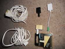 Phone extension cables 4m x 2, & misc phone sockets