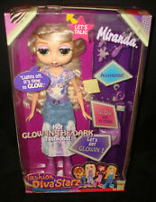 Vintage Mattel B1232 Fashion Diva Starz Miranda Glow in the Dark Talking Doll