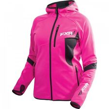 FXR WOMENS ACTIVE VENTURE HOODIE Hot Pink/Charcoal Jacket- Size 4 - New