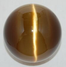 Cat's Eye 80mm Sphere Ball Globe Orb Sphere, Brown w/Stand, New, USA Seller