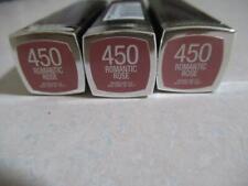 3 Maybelline Colorsensational Lipstick 450 Romantic Rose 3 Piece