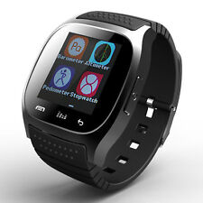 BT Bluetooth Smart Wrist Watch Phone Mate Connect For IOS Android iPhone Samsung