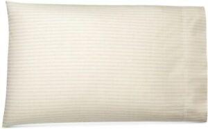 Ralph Lauren Graydon Shirting Stripe King Pillowcases Dune Fog 100% Cotton 2 Pk.