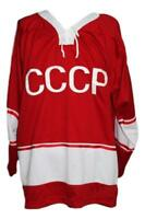 Any Name Number Size Russia CCCP Retro Hockey Jersey Red Maltsev