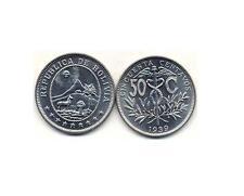 Bolivia:4-Piece High-Grade Wartime Coin Set, 10C - 50C