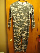 AMERICAN HERO SOLDIER CAMO HALLOWEEN COSTUME Jump SUIT ~ YOUTH Large