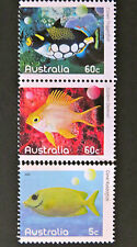 Australian Decimal Stamps: 2010 Fishes of the Reef - Part 1 - Set of 3 MNH