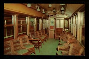 Train Railroad postcard Trolley Branford Museum East Haven, CT interior  car