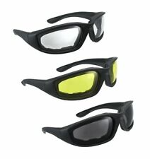 3 Pair Motorcycle Riding UV Protection Glasses for Half Helmet Wind Resistant