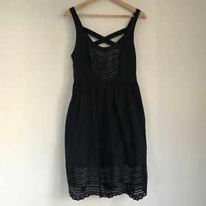 Anthropologie Moulinette Soeurs Womens Dress, Size US 10, Navy Blue