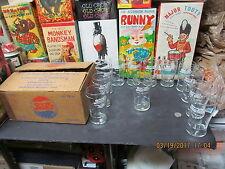 "PEPSI COLA 12 SODA FOUNTAIN GLASSES BOXED 30's ""HITS THE SPOT"" 7OZ NEW OLD STOCK"