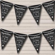 Compromiso Boda Bautizo Aniversario Negro Para Banner Personalizado 80cm