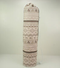 Yoga/Pilates Mat Bag with Adjustable Carry Strap Fits Mat 6mm- Beige Tribal