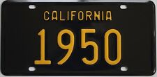1950 California style novelty license plate, black background!