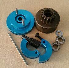 1/10 RC Nitro Clutch Flywheel Kit 2 Shoe Blue