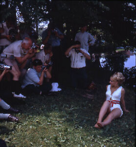 Vintage Stereo Realist Photo 3D Stereoscopic Slide PINUP Photographers w Blonde