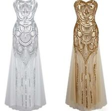 Prom Gown 1920s Great Gatsby Flapper Dress Party Bridesmaid Evening Long Dresses