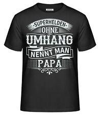 Papa T-Shirt Superhelden ohne Umhang Vatertag Vater Vati Dad Fun Geburt Geschenk