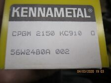 Kennemetal Indexable Carbide Inserts, 10 NOS CPGM 2150 KC 910