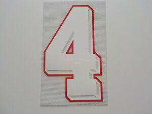 Flocage N° 4  pour maillot ou short équipe de France 1998 ou autre patch shirt
