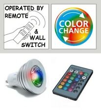 Remote Control DIMABLE Colour Changing & STATIC LED Light Bulb GU10 & ADAPTOR UK
