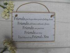 Handmade Friendship Best Special Friend Plaque Gift Shabby Chic Sign Birthday