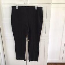 Chico's Black Side Zipper Wide Waistband Slacks Size 1.5 (10-12) Short