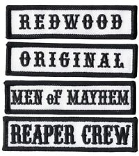 Reaper Crew Outlaw Embroidered Anarchy MC Motorcycles Biker Patch Set  [4 pcs]