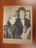 Vintage Wire AP Press Photo Elvis Ex Priscilla Presley & Fiance Marco Garibaldi