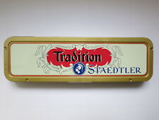 12 STAEDTLER PENCILS: TRADITION HB - MADE IN GERMANY, FACTORY SEALED VINTAGE TIN