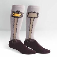 """Stretch-It"" size! Ostrich on Unisex Wide Calf Knee High Socks"