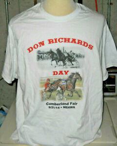 2014 DON RICHARDS DAY HORSE RACING T SHIRT HARNESS CUMBERLAND FAIR NEHWA NEW XL
