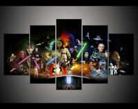 Canvas print painting 5 Panel large HD Printed art star wars movie Home Decor