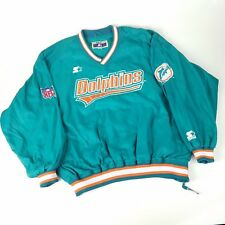Vintage Starter Classic Team NFL Miami Dolphins Pullover Jacket Mens XL
