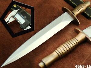 HANDMADE STAINLESS STEEL BRITISH COMMANDO TACTICAL HUNTING DAGGER KNIFE (4665-16