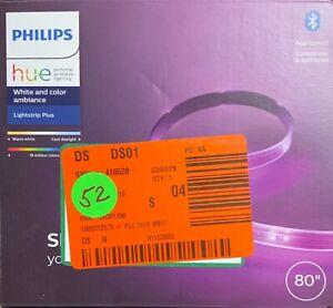 Philips Hue 555334 6ft. Lightstrip Plus Base Kit - White Lot#52