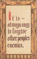 Postcard It is Always Easy to Forgive Other Peoples Enemies