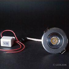 Faretto led incasso punto luce spot led 1x3 watt resa 30w 230v LED HI-POWER