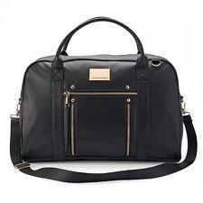 NWT Juicy Couture Black Large/X-Large Weekender Diaper Travel Duffel Bag