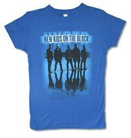 New Kids On The Block Landscape Girls Juniors Blue T Shirt New Official NKOTB