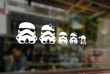 25cm Fun Stick Family Star Wars Stormtroopers Vinyl Stickers Funny Decals Bumper