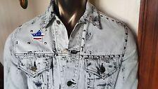 SAINT LAURENT denim studded JACKET - distressed - worn once - Size M