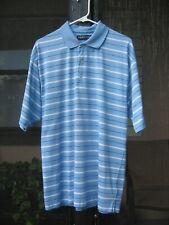 Pga Tour Blue Stripe Golf Polo Large