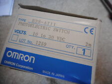 OMRON THRU-BEAM PHOTOELECTRIC SENSOR -- EMITTER and RECIVER -- E3S-AT11