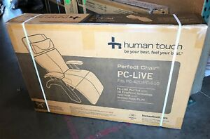 PC-420 PC-610 PC-LIVE HUMAN TOUCH PERFECT CHAIR PAD SET - Black Premium Leather