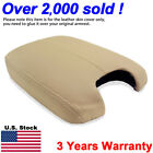 Fits 2008-2012 Honda Accord Leather Center Console Lid Armrest Cover Beige Tan
