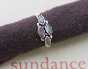 "SUNDANCE Catalog Sterling Silver ""Lake Time"" Labradorite Boho Ring Size 7 NIB"