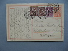 GERMANY INFLATION, uprated prestamped PC (card) 25-08-1922, total 1,50