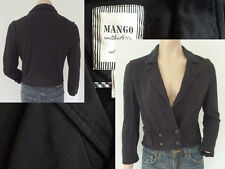 Mango kurze Jacke Blazer Girl Sportlich Zweireiher Taschen Dunkelblau M Top